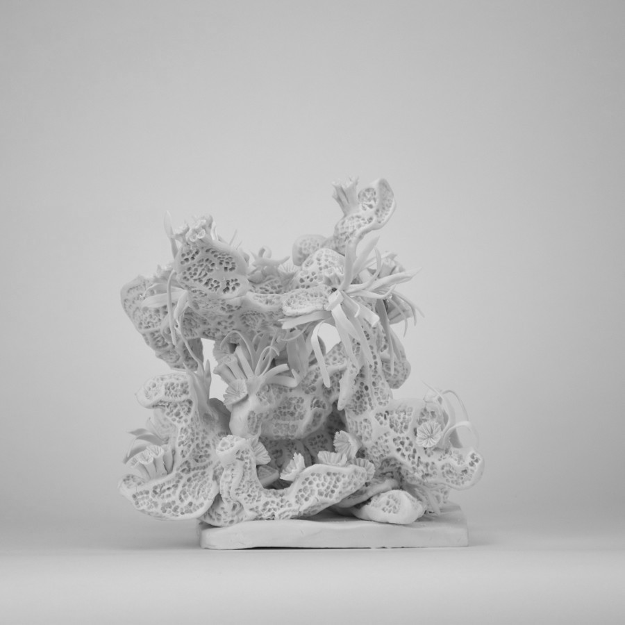 """Architecture"" - Sculpture en porcelaine"